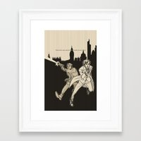 heroes Framed Art Prints featuring Heroes by salternates