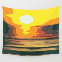 sunrise Wall Tapestries featuring Sunrise by Nuam