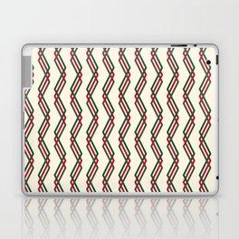 Mistlesnow Interweaving Zigzags on Ivory Laptop & iPad Skin