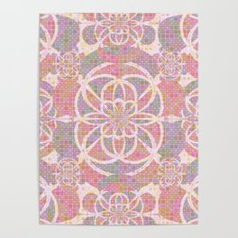 Violet red geometry Poster