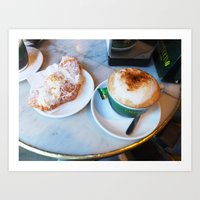 cafe Art Prints featuring Cafe by Lilliana Goti