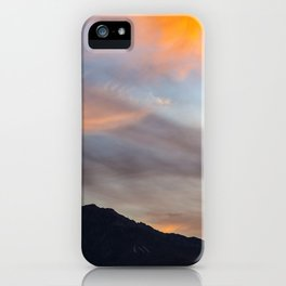 Mount San Jacinto Sunset Clouds iPhone Case