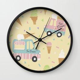 Ice Cream Trucks and Treats Wall Clock