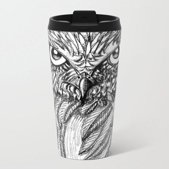 Fierce Owl Metal Travel Mug