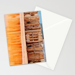 Lobster Traps and Red Sand Stationery Cards