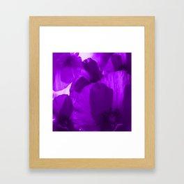Ultra Violet Poppies #decor #society6 #buyart Framed Art Print