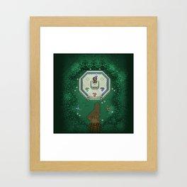 Zelda Mastesword Pixels Framed Art Print