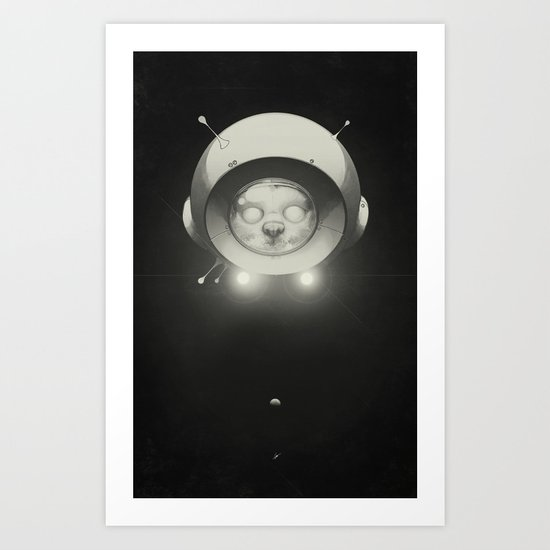 Space Kitty Art Print