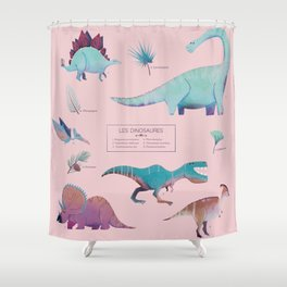 Les dinosaures Shower Curtain