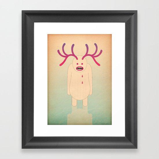 L come lago di sangue Framed Art Print