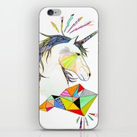 unicorn iPhone & iPod Skins featuring Unicorn by Belén Segarra