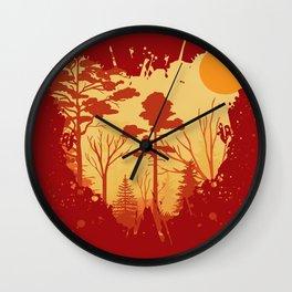 Splatter of nature Wall Clock