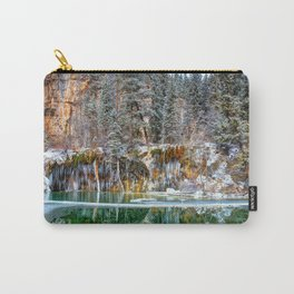 A Serene Chill Hanging Lake Winter Carry-All Pouch