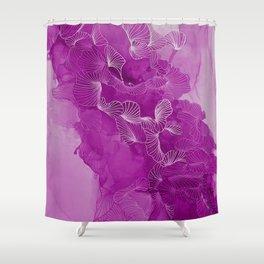 pink fling Shower Curtain