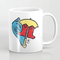 himym Mugs featuring Hey Beautiful by Reg Lapid