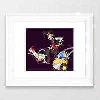space dandy Framed Art Prints featuring Space Dandy by harushururu