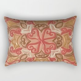 Ornamental Mandala Repoussé Rectangular Pillow