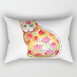 """""""gato"""" de la serie animales domésticos. Rectangular Pillow"""