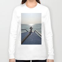 thailand Long Sleeve T-shirts featuring Thailand Boatride by Plutonian Oatmeal