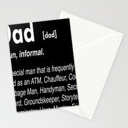 Dad Definition Stationery Cards