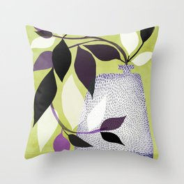 Purple Queen Throw Pillow