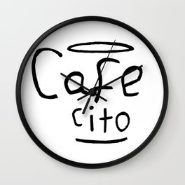 Cafecito Black and White Wall Clock