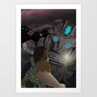 shadow of the colossus Art Prints featuring Shadow of the Colossus by MetroidHugs