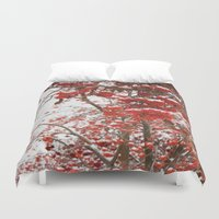 daria Duvet Covers featuring rowan-tree by Dar'ya Vlasova