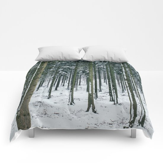 Winter Forest Treescape Comforters