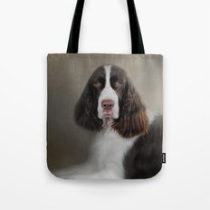 Waiting Patiently - English Springer Spaniel Tote Bag