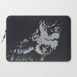 Bold Eagle Owl, Bird Of Prey Print Laptop Sleeve