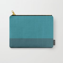 Teal Me Retro Stripe Carry-All Pouch