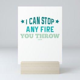 Fire Department Fire Hero emergency gift Mini Art Print