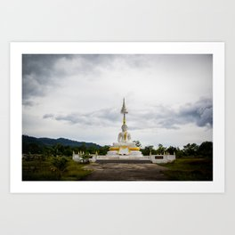 Thailand tempel Khao lak Art Print