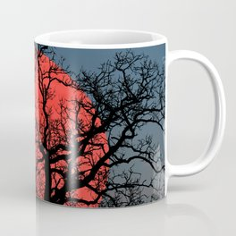 Tree Blood Moon Midnight Blue Sky Cottage Decor Art A474 Coffee Mug
