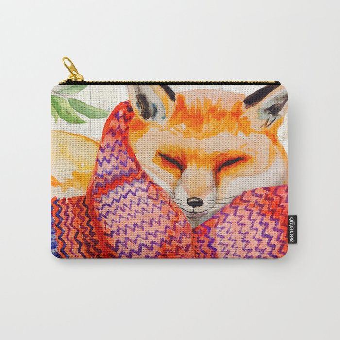 Winter animal #3 Carry-All Pouch