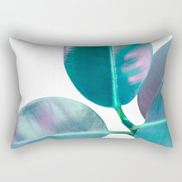 Ficus Elastica Iridescent Glam #1 #tropical #foliage #decor #art #society6 Rectangular Pillow