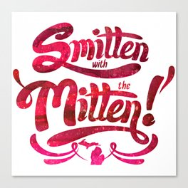 Smitten with the Mitten Canvas Print