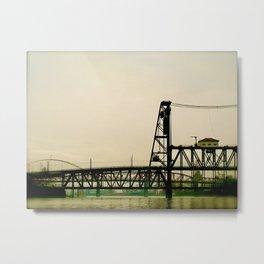 Portland, Oregon Bridges across the Willamette River Metal Print