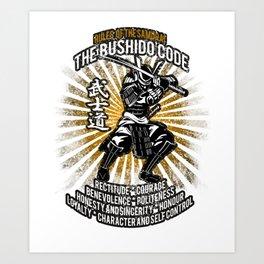 Samurai Bushido Code, Musashi, Ronin, Budo Art Print