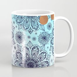 Aqua Mandala Coffee Mug