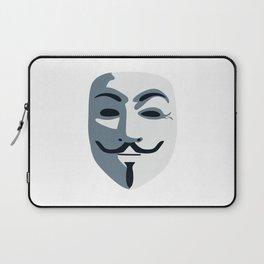 Anonymous Mask #society6 #decor #buyart #artprint Laptop Sleeve