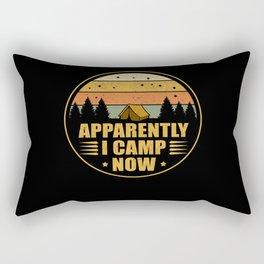Apparently I Camp Now Camping Campsite Rectangular Pillow