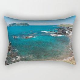 Small bay and islet Rectangular Pillow