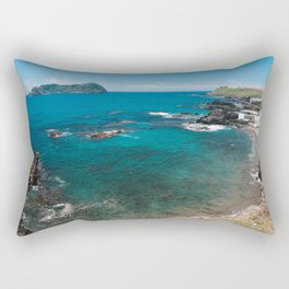 Small bay and islet Rectangular Pillow