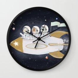 little astronauts Wall Clock