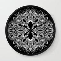 plants Wall Clocks featuring plants by Ichsjah