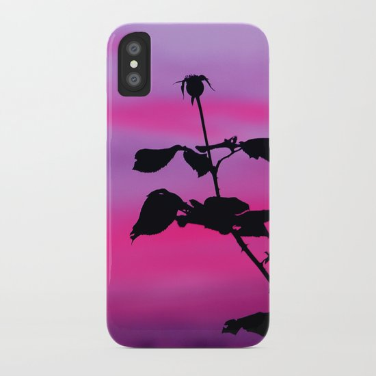 The Sunset of a Rose iPhone Case