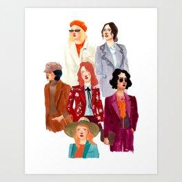 Blazer Ladies Art Print