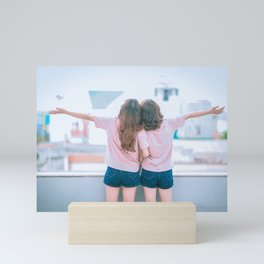 Young Lesbian Couple Mini Art Print